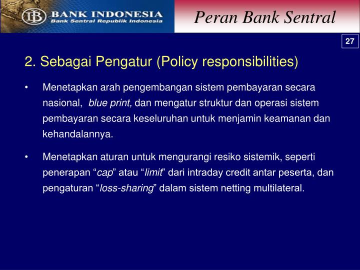 Peran Bank Sentral