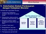 v keterkaitan sistem pembayaran dengan kebijakan moneter