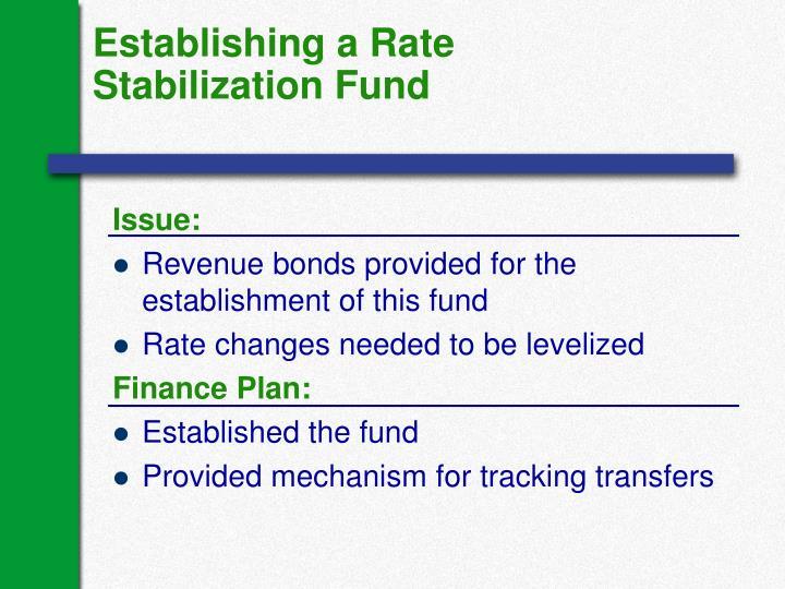 Establishing a Rate