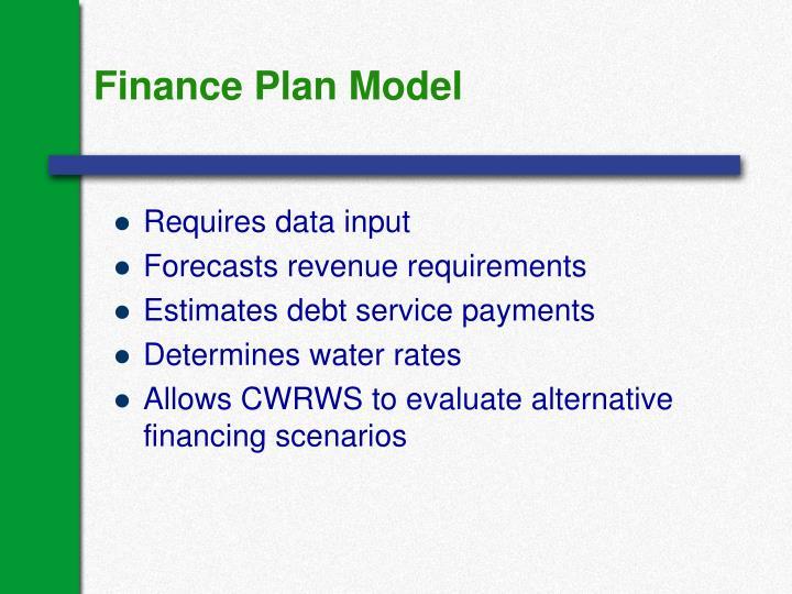 Finance Plan Model