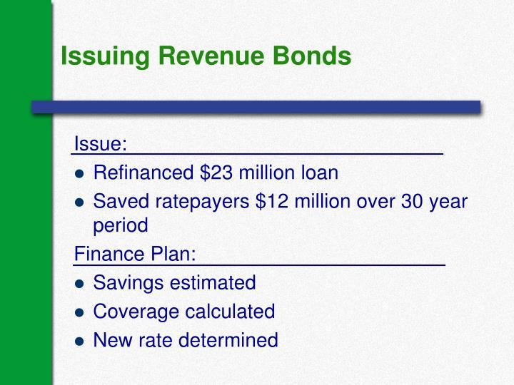Issuing Revenue Bonds
