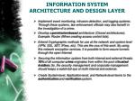information system architecture and design layer1