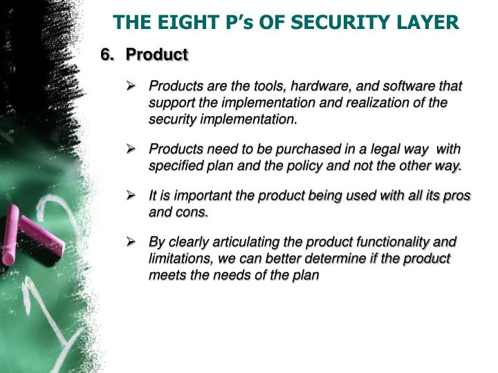 THE EIGHT P's OF SECURITY LAYER