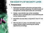 the eight p s of security layer7