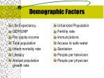 demographic factors