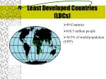 least developed countries ldcs