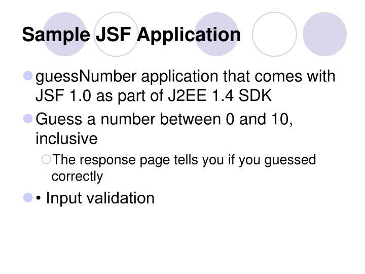Sample JSF Application