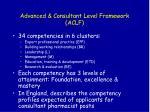 advanced consultant level framework aclf