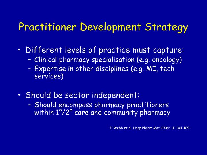 Practitioner Development Strategy