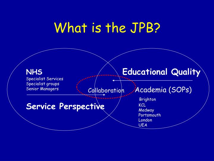 What is the JPB?
