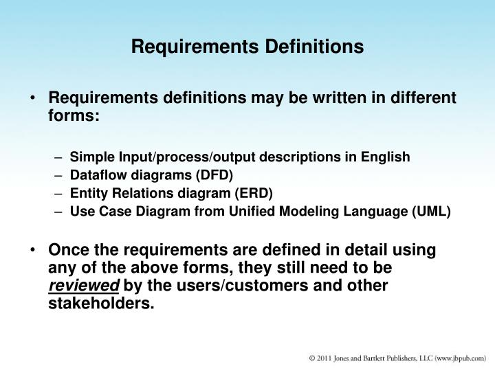 Requirements Definitions