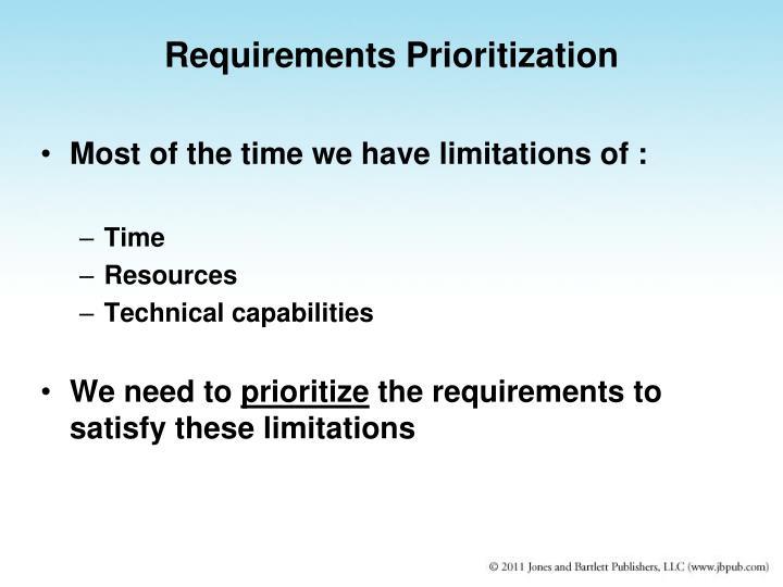 Requirements Prioritization