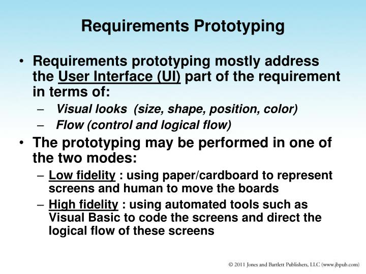 Requirements Prototyping