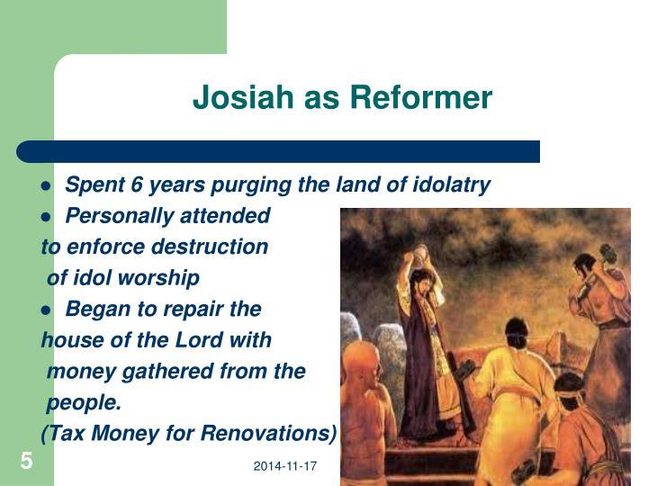 Josiah as Reformer