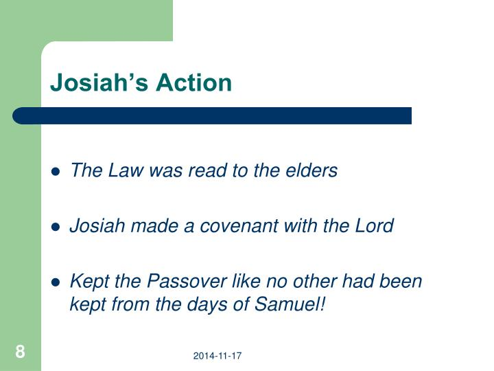 Josiah's Action