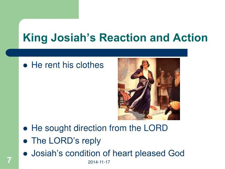 King Josiah's Reaction and Action