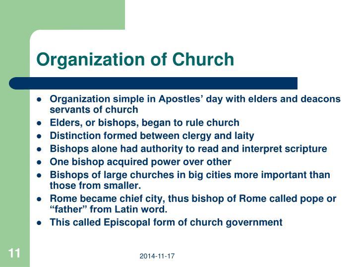 Organization of Church