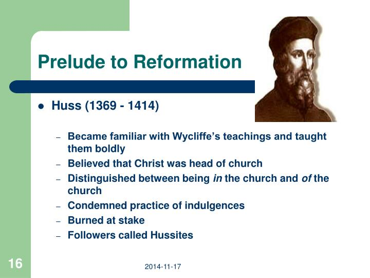 Prelude to Reformation