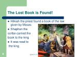 the lost book is found