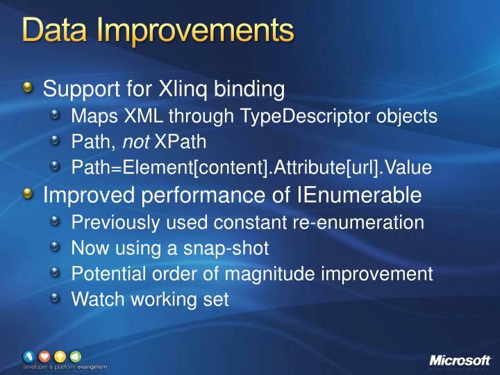 Data Improvements