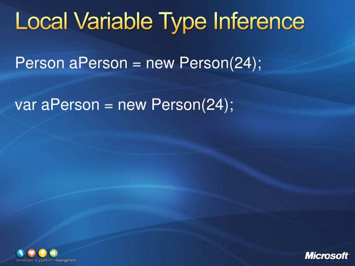 Local Variable Type Inference