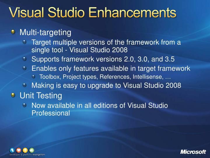 Visual Studio Enhancements
