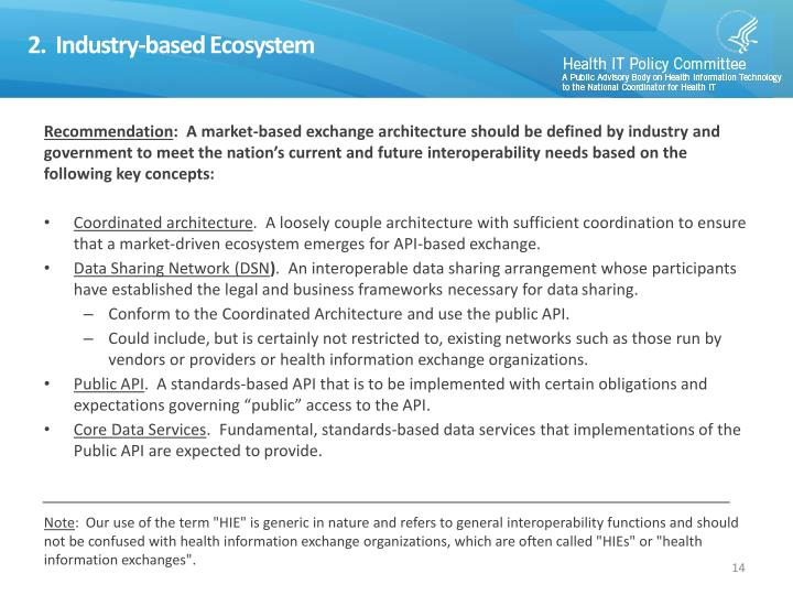 2.  Industry-based Ecosystem