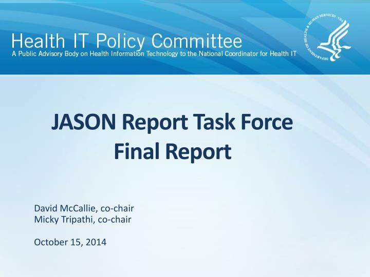 jason report task force final report