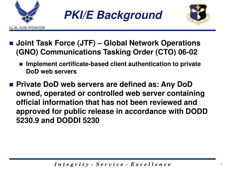 PKI/E Background