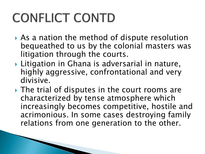 CONFLICT CONTD