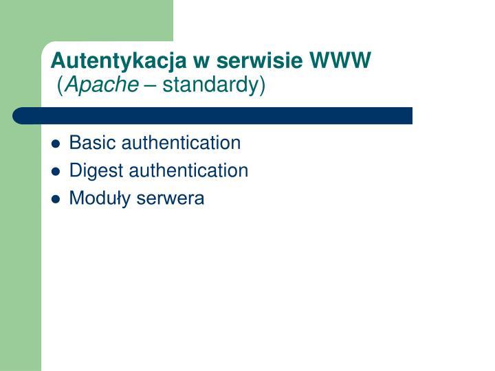 Autentykacja w serwisie WWW