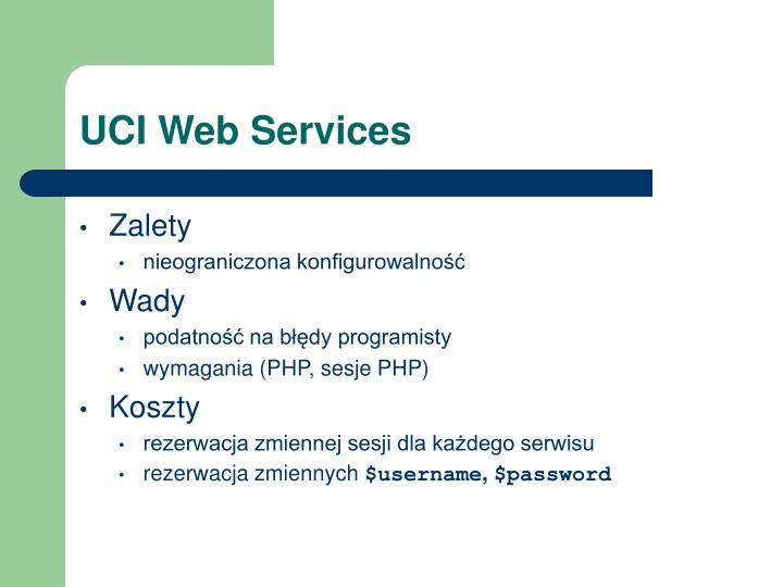 UCI Web Services