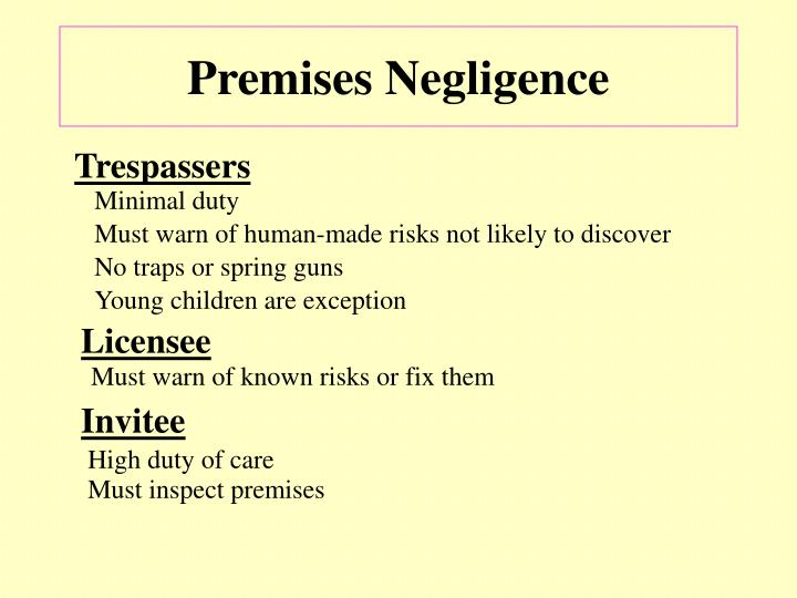 Premises Negligence