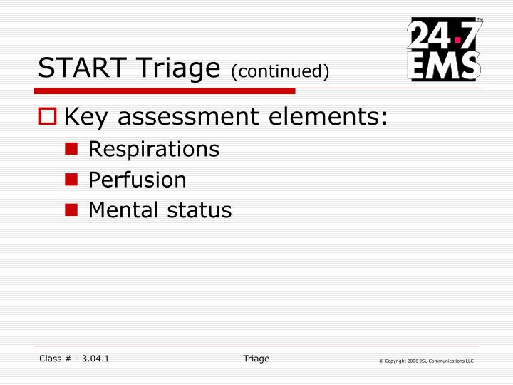 START Triage