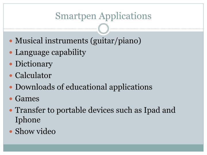 Smartpen Applications