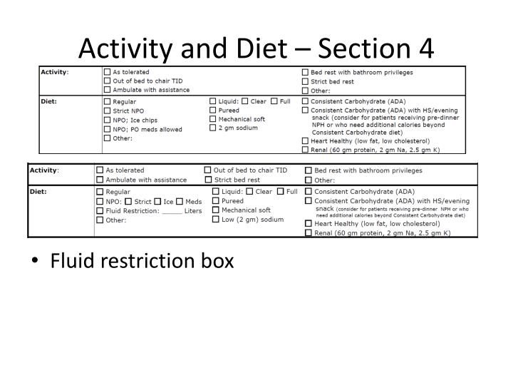 Activity and Diet – Section 4