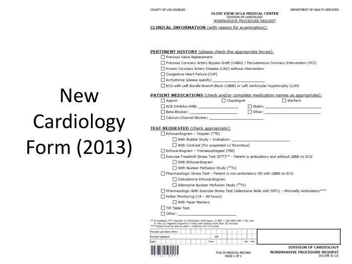 New Cardiology Form (2013)
