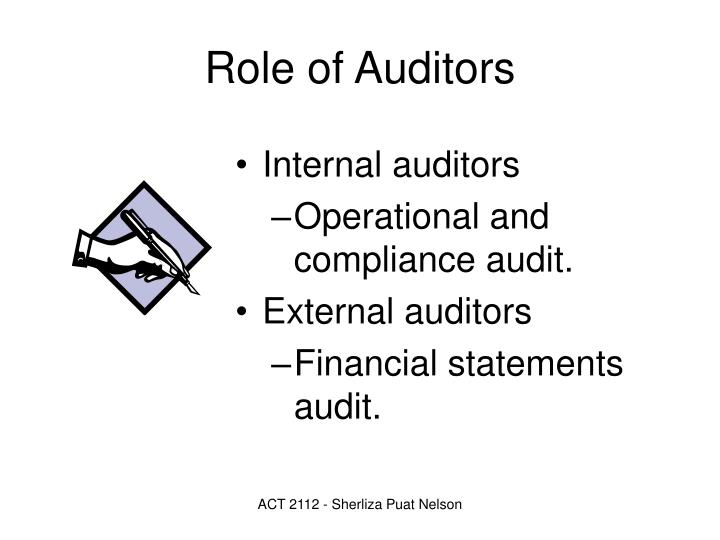 Role of Auditors