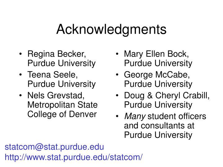 Regina Becker, Purdue University