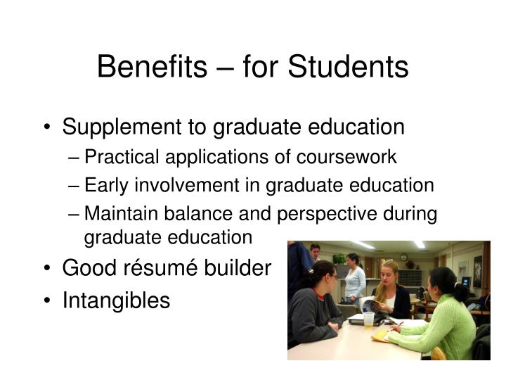 Benefits – for Students