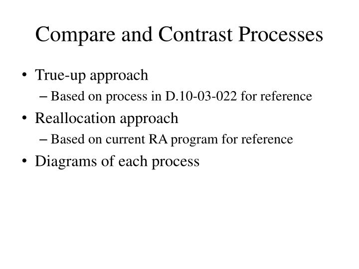 Compare and Contrast Processes