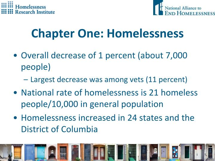 Chapter One: Homelessness