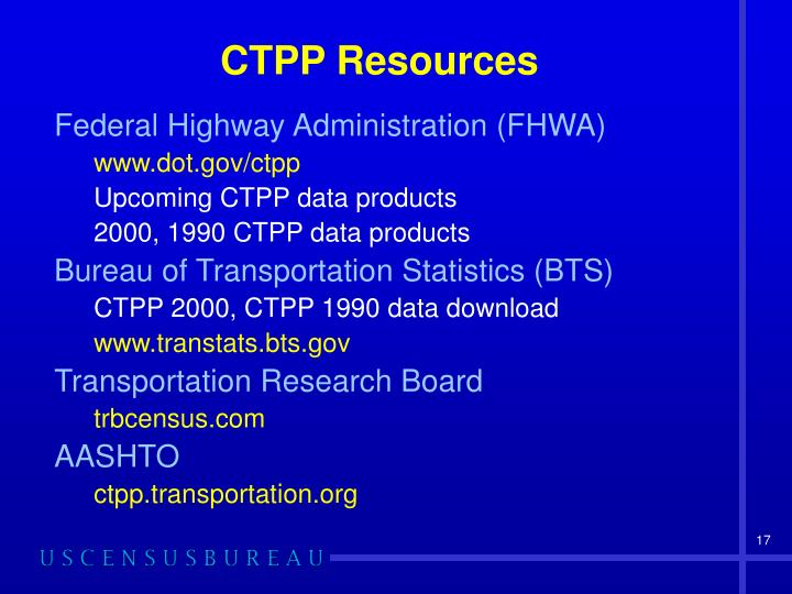 CTPP Resources