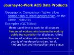journey to work acs data products5