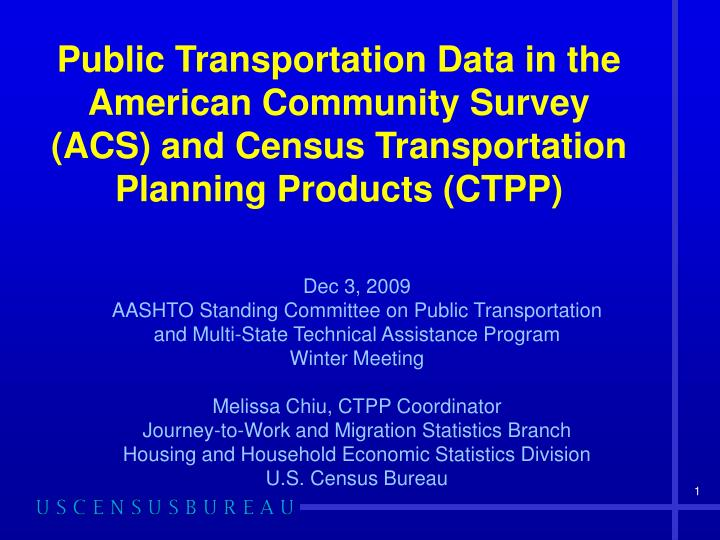 Public Transportation Data in the