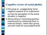cognitive errors of social phobia1