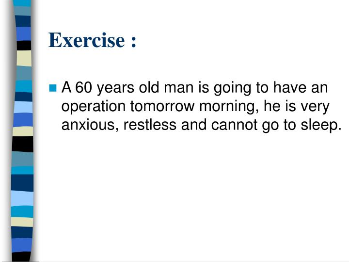 Exercise :