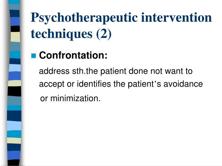 Psychotherapeutic intervention techniques (2)