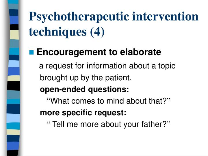 Psychotherapeutic intervention techniques (4)