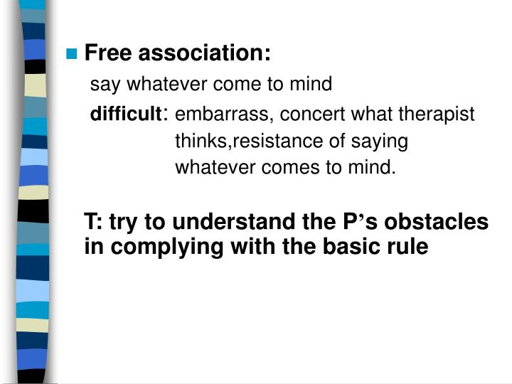 Free association: